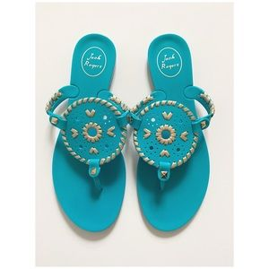 Jack Rogers Georgica Jelly Sandals Size 8 Blue